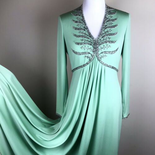 M Crystals Victoria Ltd Royal Rubin maat Green Lillie Zip 8 Beaded jurkjurk Yqp4xwvg