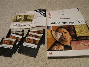 Vintage-Adobe-Illustrator-5-5-for-Apple-Macintosh-Disks-and-CDROM-Manuals