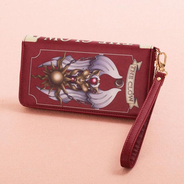 Japan Anime Card Captor Sakura Cosplay Clow Handbag Purse Wallet with Gift Box
