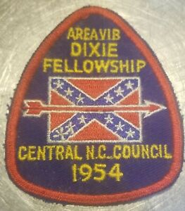 Boy-Scouts-OA-RARE-AREAVIB-1954-Dixie-Fellowship-Central-N-C-Council