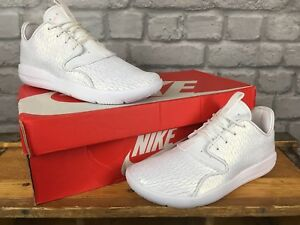 NIKE-UK-4-EU-36-5-WHITE-SHIMMER-LEATHER-JORDAN-ECLIPSE-BOYS-YOUTH-TRAINERS