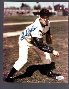 Bob Feller D.2010 Signed Autograph Cleveland Indians 8x10 Photo - JSA R31135
