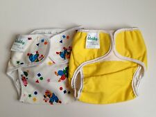2 WABBY NOS re-usable cotton cloth diapers 60s vintage USA 13 - 17 lbs.
