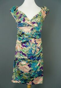 Suzi Chin Maggy Boutique Floral Ruched Sheath Dress $159 Size 4 # 2NB 213 NEW