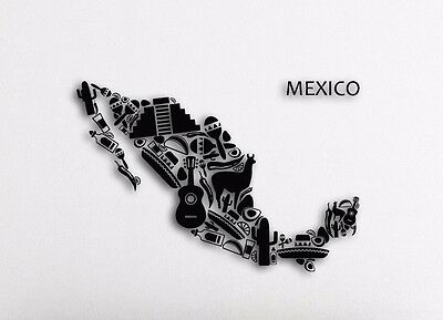 Wall Decal Cactus Sombrero Mexico Latin America Travel Vinyl Stickers ig2669
