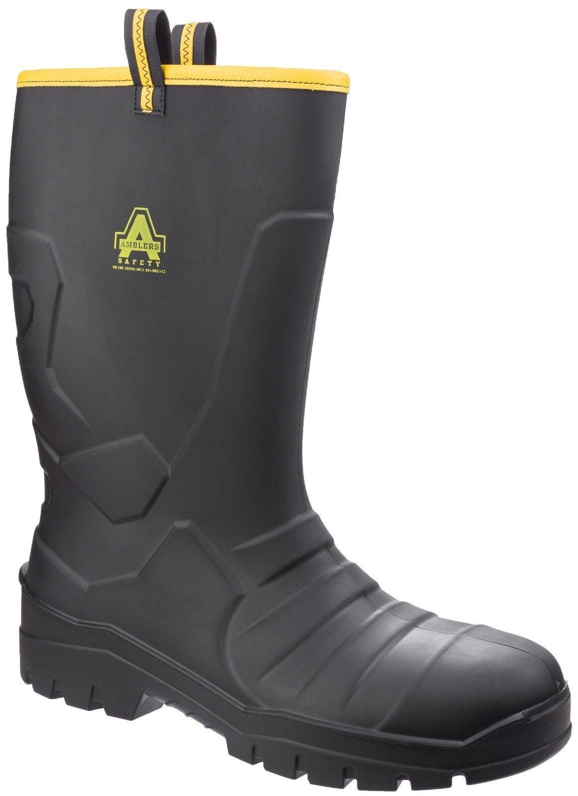Amblers AS1008 Seguridad Puntera De Acero Para Hombre Wellingtons Wellies botas De Trabajo