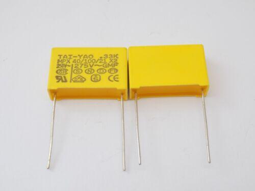 1x TAI-YAO .33K MPX 40//100//21 0.33uF 275V  Capacitors