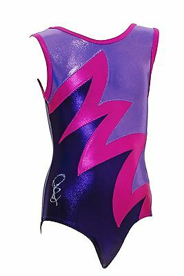 Gymnastic leotard No Sleeves Girls Gym All Sizes #009C OLYMPIQUE From UK