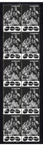 THE BRADY BUNCH STRIP OF 10 MINT TV VIGNETTE STAMPS 1