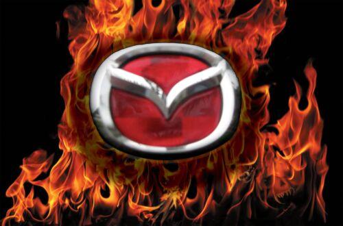 mazda miata front and rear brake light red emblem insert