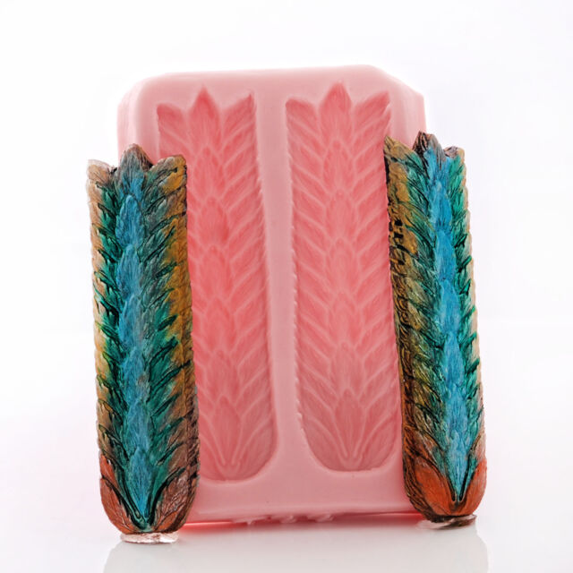 Ceremonial Feather Silicone Mold Food Safe Fondant Candy - Resin Clay  (771)