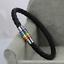 Titane Acier Aimant drapeau arc-en-Ciel LGBT Pride charme Gay Cuir Véritable Bracelet
