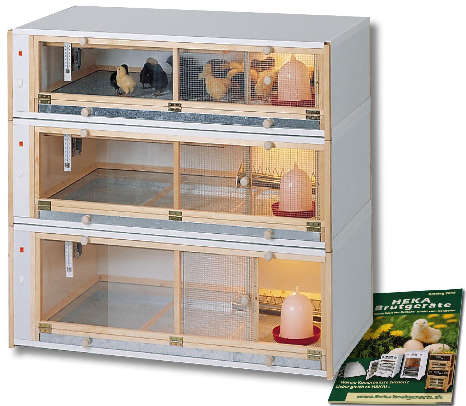 HEKAKükenAufzuchtboxKombination 100x50x100cm 3 Abteile @@@HEKA: Art. 4001D