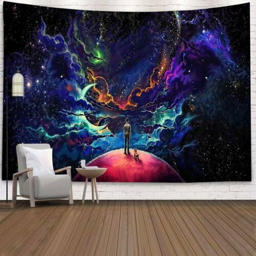 Starry Tapestry Wall Hanging Bedspread Indian Trippy Psychedelic Home Decoration