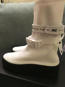 new arrival 3c2af fb4f4 Details about Nike W Air Force 1 Sage High White Black AF1 AQ2771-100  Womens Boots Shoes NIB