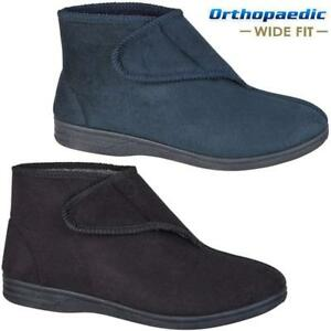 1ff6045f596968 Image is loading MENS-DIABETIC-ORTHOPAEDIC-EASY-CLOSE-WIDE-FITTING-ANKLE-
