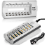 thumbnail 1 - EBL 8 Slot Battery Charger For Ni-MH Ni-CD AA AAA Rechargeable Batteries