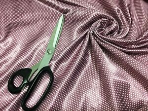 NEW-Smooth-Liquid-Satin-Small-Spotted-Polka-Dot-Spotted-Print-Fabric-FREE-P-amp-P