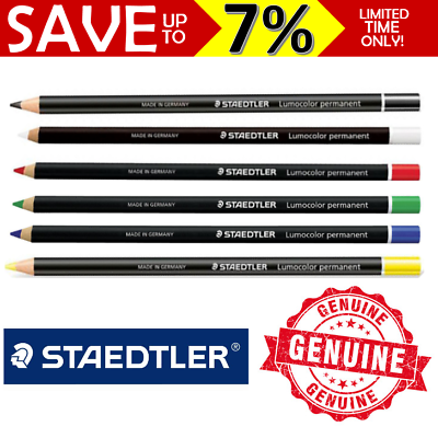 Staedtler Lumocolor Permanent Glasochrom 108 20-0 White Pencil Hi Wax Chinagraph