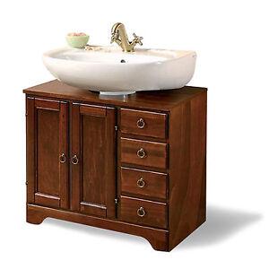 Copri colonna mobile bagno con 2 ante e 4 cassetti in arte povera legno noce ebay - Colonna bagno mercatone uno ...