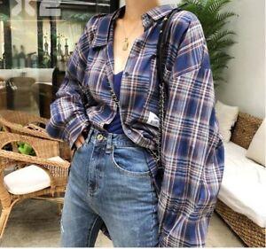 Oversized-Vintage-plaid-check-shirts