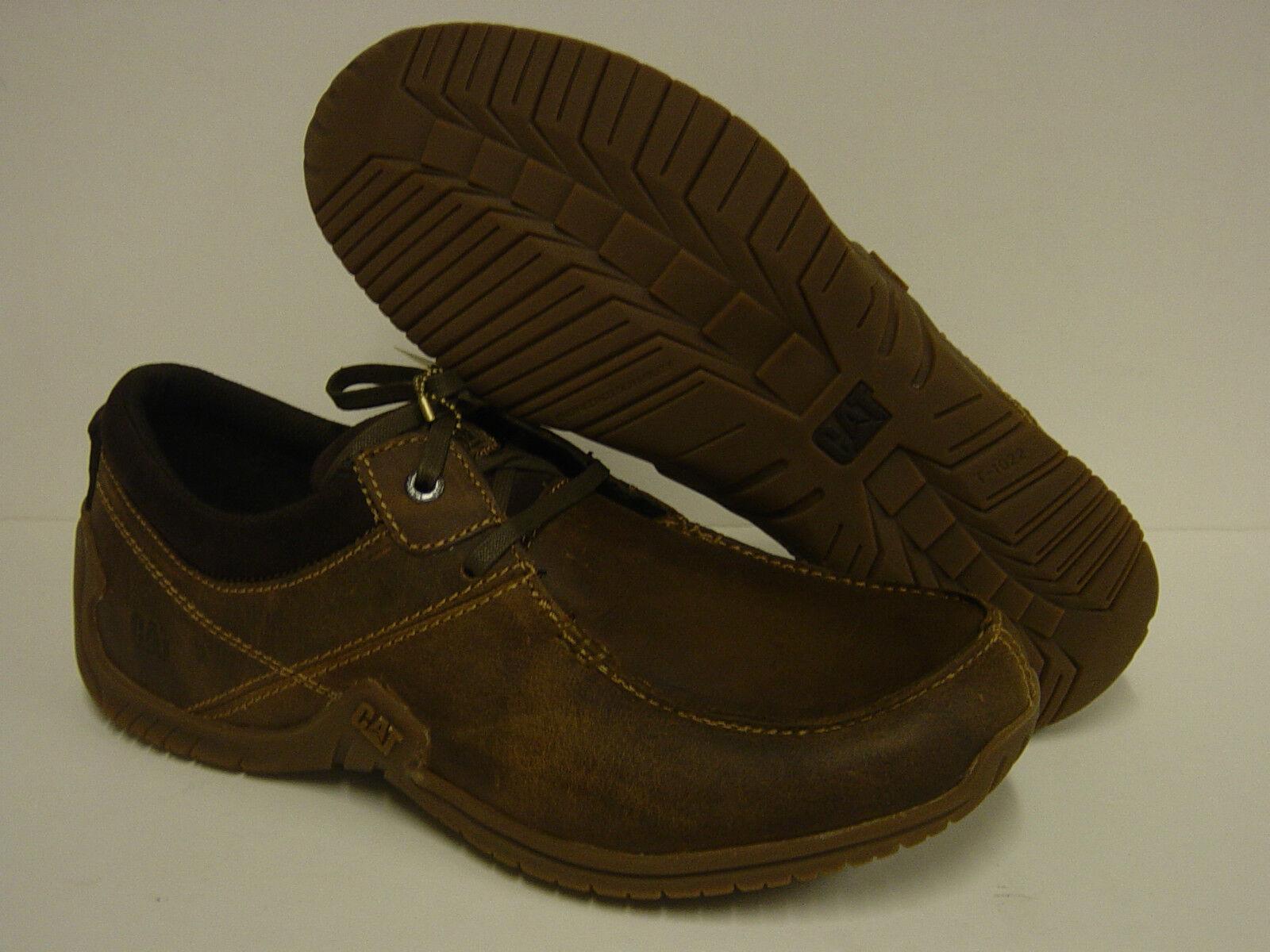 Zapatos De Cuero nuevo Para hombres CATERPILLAR CAT excedente con Cordones Tenis Marrón P714953