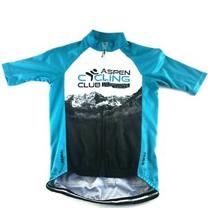 The-North-Face-Aspen-Cycling-Club-Mens-XS-Race-Cut-Jersey-Bicycle-Shirt-Primal