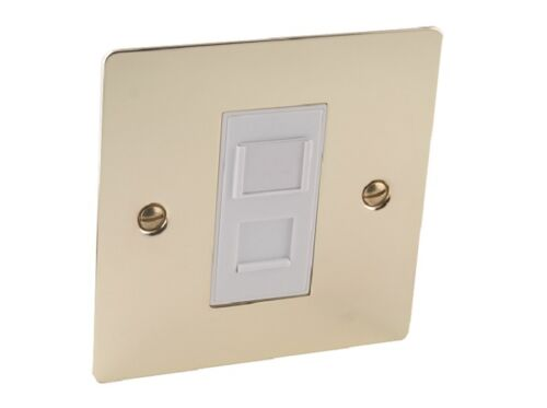 Flat Plate//Polished Brass Network//Internet RJ45 Data Outlet Socket