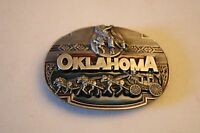 Oklahoma State Pewter Belt Buckle Siskiyou Buckle Co. Made In The Usa