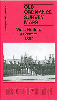 OLD ORDNANCE SURVEY MAP EAST RETFORD 1884 MARKET SQUARE THRUMPTON BALK FIELD