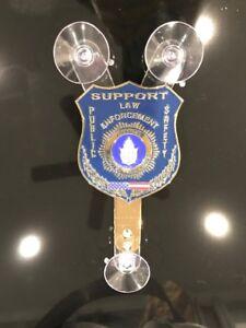 Police Car Window Shield Plaque NJ NY FL  like Fop PBA /& FREE Suction Cup Mount