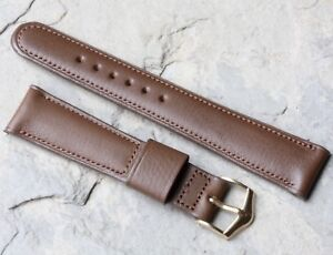 Old-type-stitched-amp-padded-19mm-vintage-watch-strap-by-JB-Champion-USA-1950s-NOS
