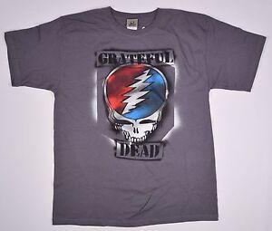 GRATEFUL DEAD-GRAFFITI SYF-STEAL YOUR FACE-GREY TSHIRT