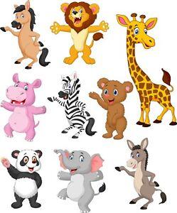 Animals-Bedroom-wall-toy-box-stickers-Vinyl-Baby-Nursery-Childrens-Window-zoo
