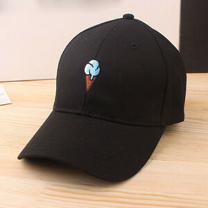 cfe39602a01 Image is loading Unisex-Ice-Cream-Adjustable-Cotton-Baseball-Cap-Snapback-
