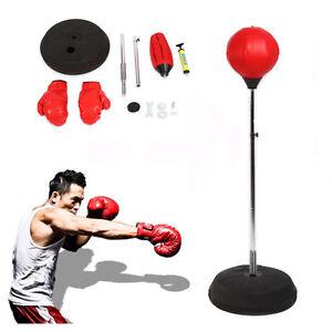 Boxen-Training-Set-Punchingball-Boxball-Boxsack-Standboxsack-Mit-Boxhandschuhe