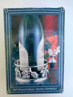 International Silver-silver-plated Wine Grapevine Bottle Holder And Stopper Leaf
