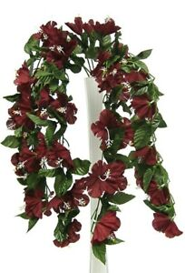 26 hibiscus burgundy hanging bush silk flowers wedding bouquets image is loading 26 034 hibiscus burgundy hanging bush silk flowers mightylinksfo