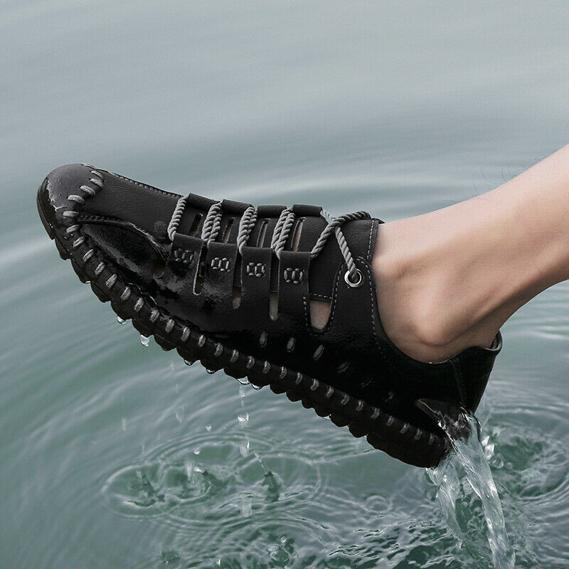 New Men's Summer Leisure Outdoor Superfine Leather British Breathable Bean shoes