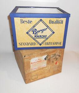 Alte-Verkaufsvitrine-BURGER-KNACKE-Knackebrot-Kekse-1956-NOS-Originalkarton
