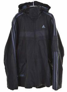 ADIDAS-Boys-Jacket-13-14-Years-Large-Black-Polyester-IQ69