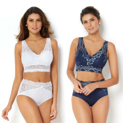 Rhonda Shear 2-pack Lace Bra with Removable Pads