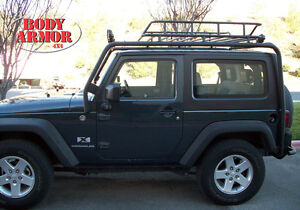 Roof Rack JK 2 Door Base Unit. Two Box Set Body Armor Fits 07 13 Jeep  Wrangler