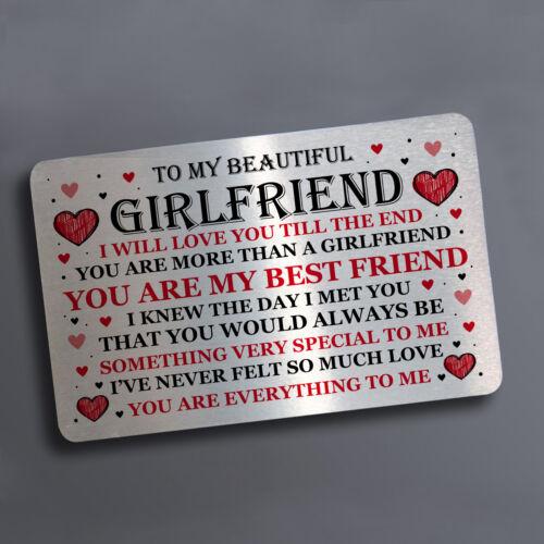 Valentines Day Metal Card Gift For Boyfriend Girlfriend Valentines Anniversary