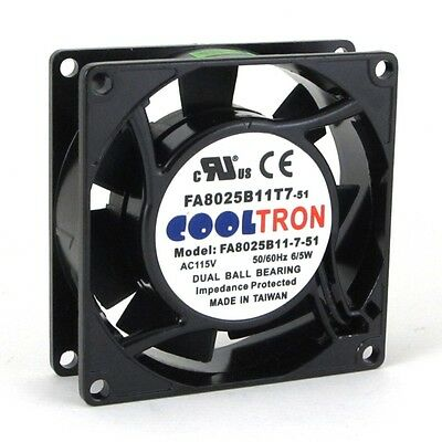 HS8025A 115V AC Cooling Fan 80mm x 25mm High Speed