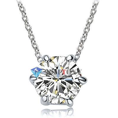 Sparkling Swarovski Crystal Necklace 18K White Gold Plated Bridal Jewellery