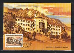 Maxi Card A91 Liechtenstein 1985 Monastery Schaan