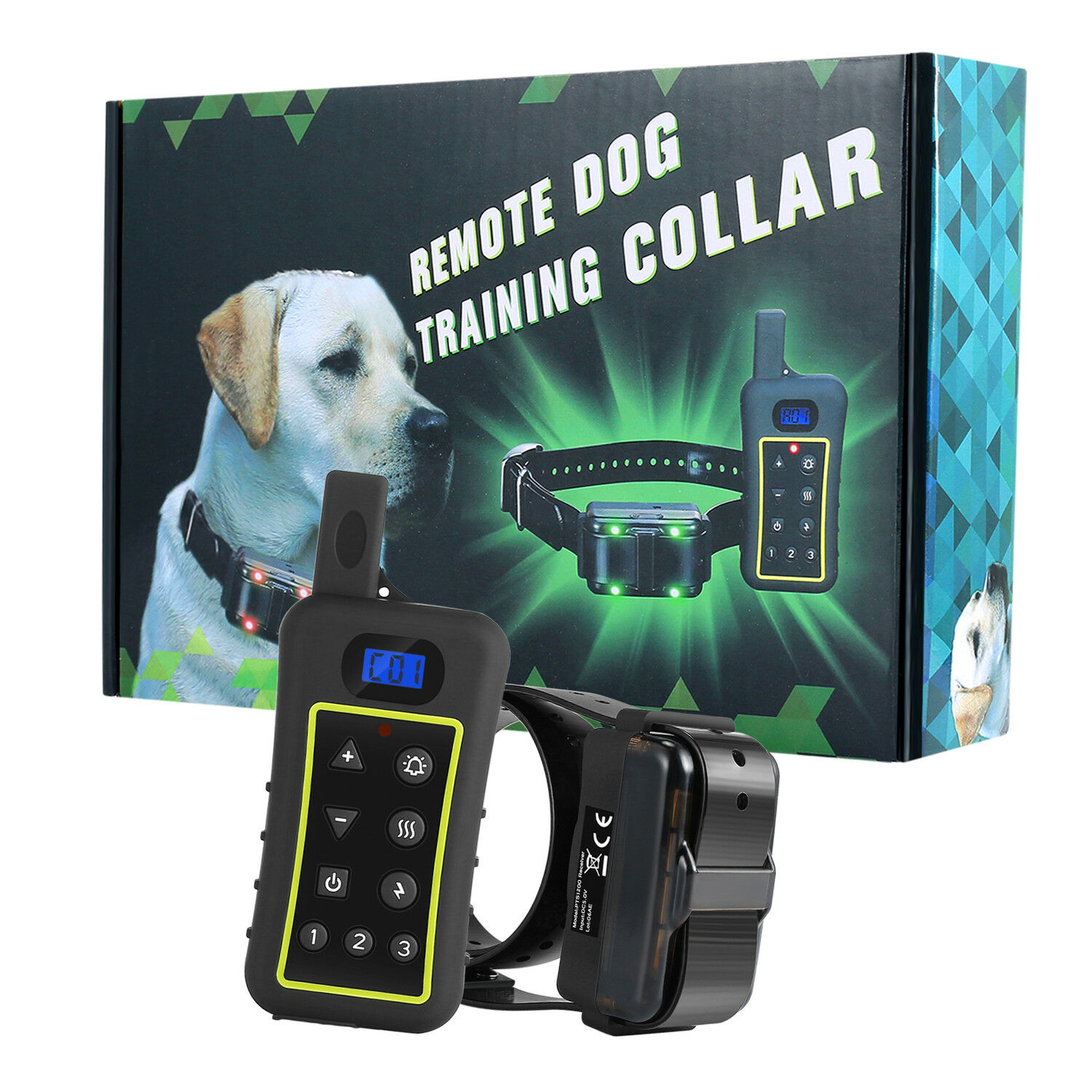1300YD Remote Dog Training Shock Collar Auto Anti-Bark  Waterproof Rechargeable
