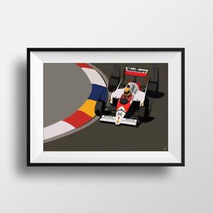 Details about F1 Ayrton Senna Formula 1 Print - Poster - McLaren - Honda