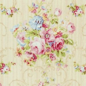 Cottage-Shabby-Chic-Lecien-Rococo-amp-Sweet-Floral-Fabric-31860L-10-Pearl-BTY